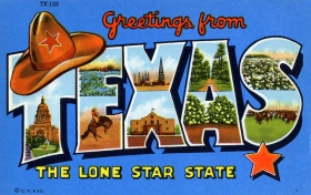 texas post card